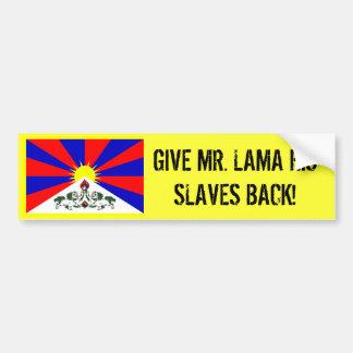 Dalai Lama är ensamt Bildekal