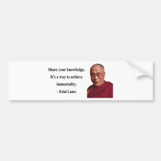 Dalai Lama citationstecken 5b Bildekal