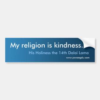 """Dalai Lama citationstecken: """"Är min religion Bildekal"""