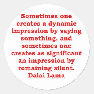 Dalai Lama citationstecken Runt Klistermärke