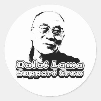 Dalai Lama servicebesättning Runt Klistermärke