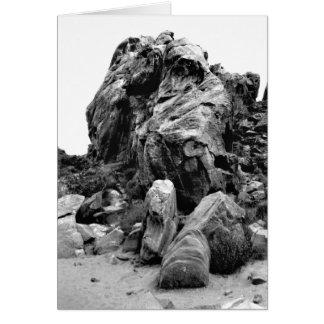 Dalen av avfyrar stenhögen fotograferar hälsningskort