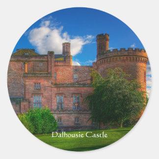 Dalhousie slott, Midlothian, Skottland Runt Klistermärke