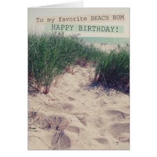 Dålig födelsedag för strand hälsningskort