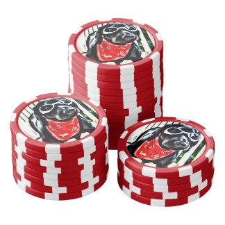 Dåliga för lerapokerchiper till de Bonez gogglesna Poker Marker