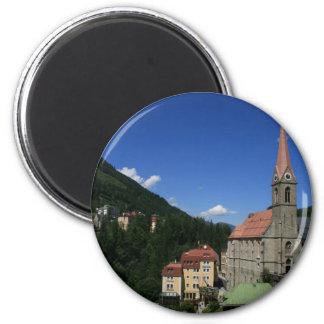 Dåliga Gastein, Österrike Magnet Rund 5.7 Cm
