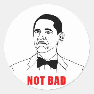 dåliga Obama för solidchainwear inte Runt Klistermärke
