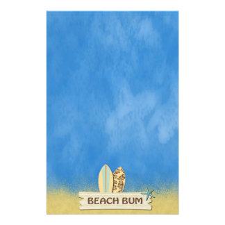 Dåliga palmträd för strand brevpapper