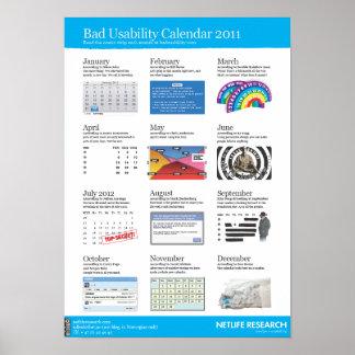 Dåligaanvändbarhetskalender 2011 poster