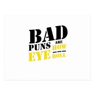 Dåligavitsar är hur ögarulle - roliga vitsar vykort