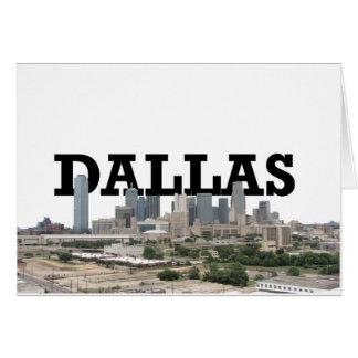 Dallas horisont med Dallas i himmlen Hälsningskort
