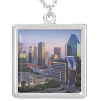 Dallas horisont silverpläterat halsband