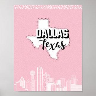 Dallas söt i rosor poster