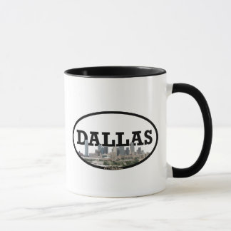 Dallas Texas horisont med Dallas i himmlen Mugg