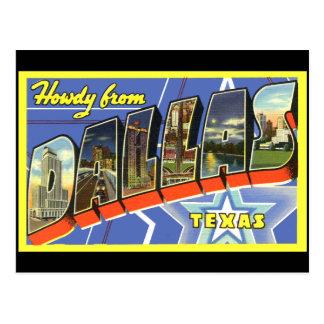 Dallas vintage resorvykort vykort
