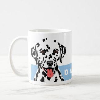 Dalmatian design vit mugg
