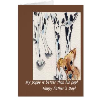 Dalmatian fars dag hälsningskort