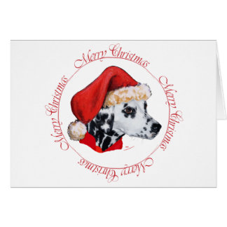 Dalmatian god jul hälsningskort