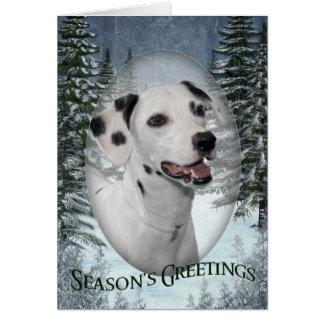 Dalmatian helgdagkort hälsningskort
