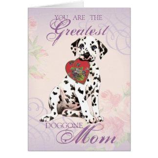 Dalmatian hjärtamamma hälsningskort