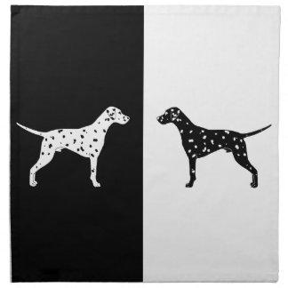 Dalmatian hund tygservett