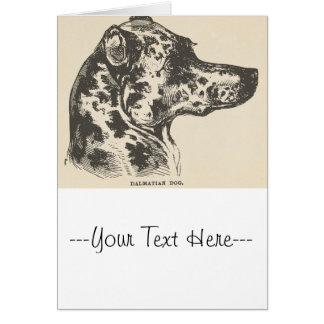 Dalmatian hundillustration hälsningskort