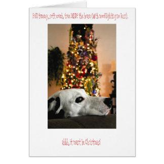 Dalmatian hundjulkort hälsningskort
