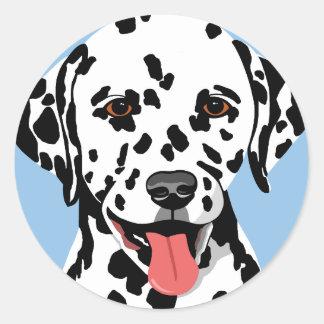 Dalmatian hundklistermärkear runt klistermärke