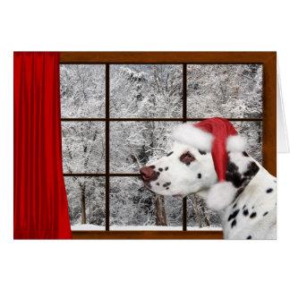Dalmatian jul hälsningskort