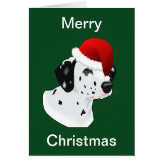 Dalmatian julkort hälsningskort