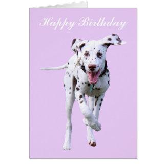 Dalmatian kort för valphundgrattis på födelsedagen