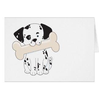 Dalmatian med ben hälsningskort