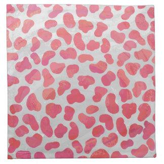 Dalmatian rosa- och vittryck tygservett