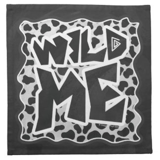 Dalmatian svartvitt med vild mig tygservett
