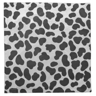 Dalmatian svartvitt tryck tygservett
