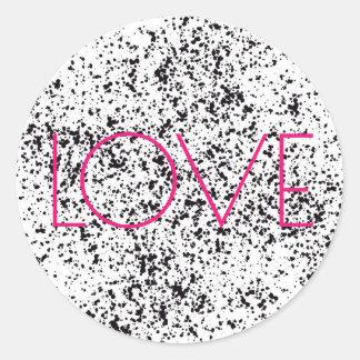 Dalmatian tryckklistermärkear för kärlek runt klistermärke