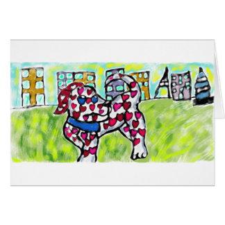 Dalmatian valentin hälsningskort