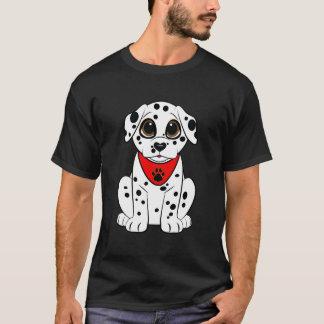 Dalmatian valp med den hjärtformade näsan t shirts