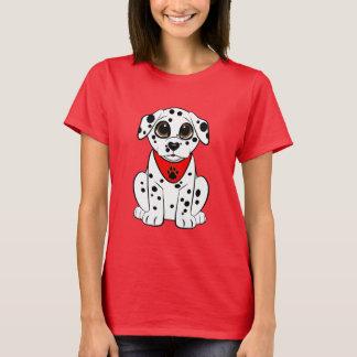 Dalmatian valp med den hjärtformade näsan tee shirt