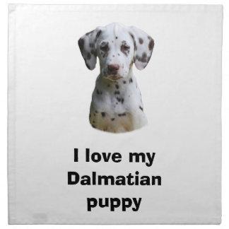 Dalmatian valphundfoto tygservett