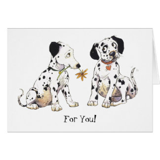 """Dalmatians """"för dig!"""", Hälsningkort Hälsningskort"""