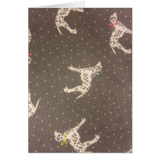 Dalmatians med pilbågar hälsningskort