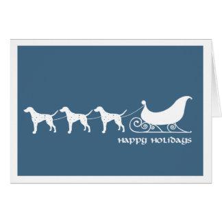 Dalmatians som drar Santas Sleigh Hälsningskort