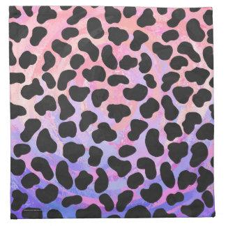 Dalmatiansvart och rosatryck tygservett