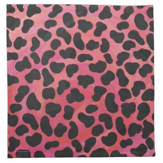 Dalmatiansvart och rött tryck tygservett