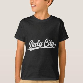 Daly City skrivar logotypen i vit T-shirts