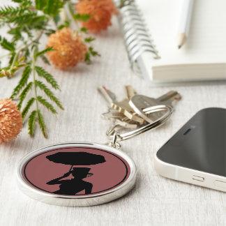 Dam av aska Keychain, Rnd, - nycklar till hearsen Rund Silverfärgad Nyckelring