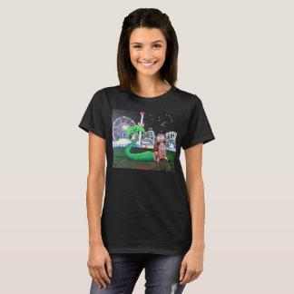 Dam för Coneyösjöjungfru mörk färg för snitt T-shirt