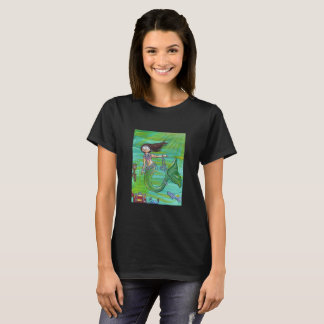 Dam för sjöjungfruskattskjorta snitt tröja