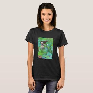 Dam för sjöjungfruskattskjorta snitt tröjor